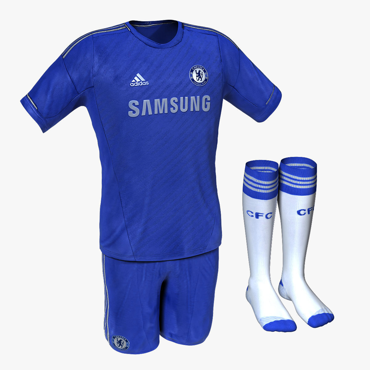 Chelsea Fc Home Soccer Jersey 3d Cgtrader