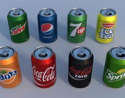 3D model Soda cans PBR mountain