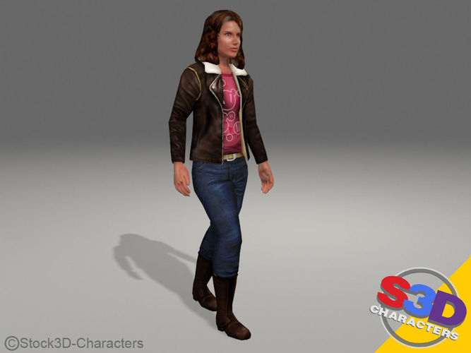 Teenager Monica Rigged3D model