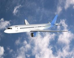 3D model Bombardier cs300 commercial airplane