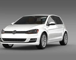 3D Volkswagen Golf TDI 5d 2015