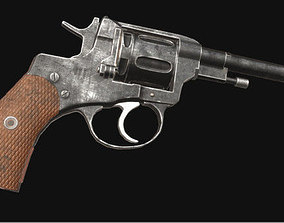 PBR Nagant Revolver 3D asset