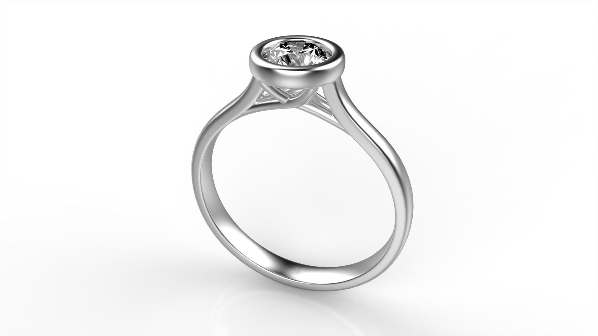 with diamond in uneek ring round and shank shaped engagement platinum halo rings cushion product pave triple