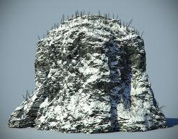 Snow Rock 01 3D Model