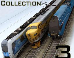 3D asset Trains Collection 3