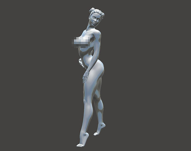 woman wearing high-heeled 3d model stl 1