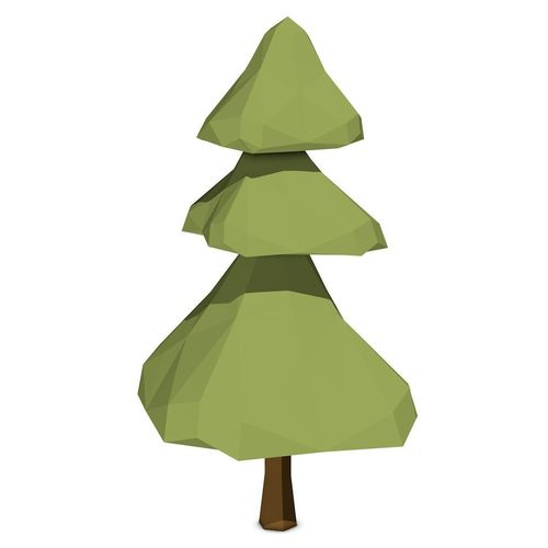 Cartoon Pine Tree 3d Model Low Poly Obj 3ds Fbx C4d Dxf Dae 3