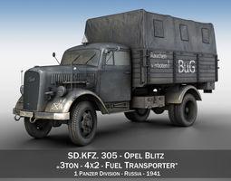3D Opel Blitz 3ton - Fuel Transporter