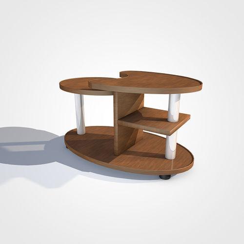 italian table 3d model obj mtl 3ds fbx c4d dxf stl 1