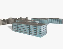 Office Complex 3D model rock