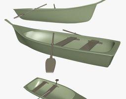 3D model Small Wooden Boat