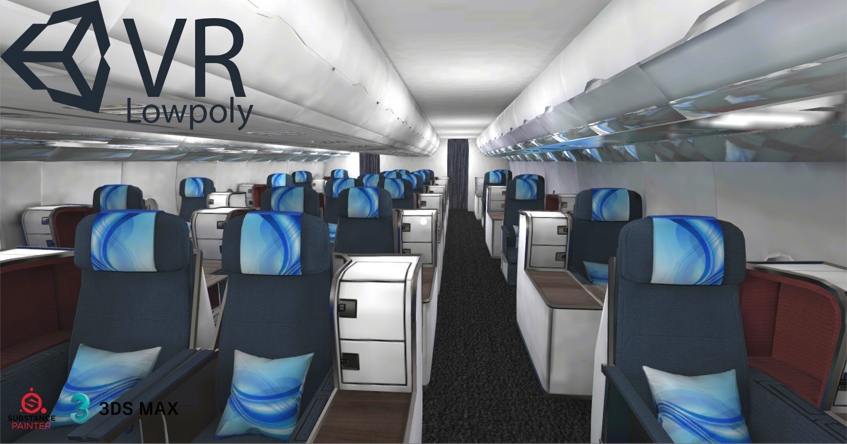 airplane A330-300 interior kit Unity3d