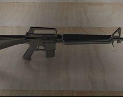 earlier M16A1 1on24 scale model 3D print model machine-gun