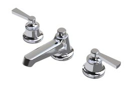 3d model waterworks transit faucet with lever handles
