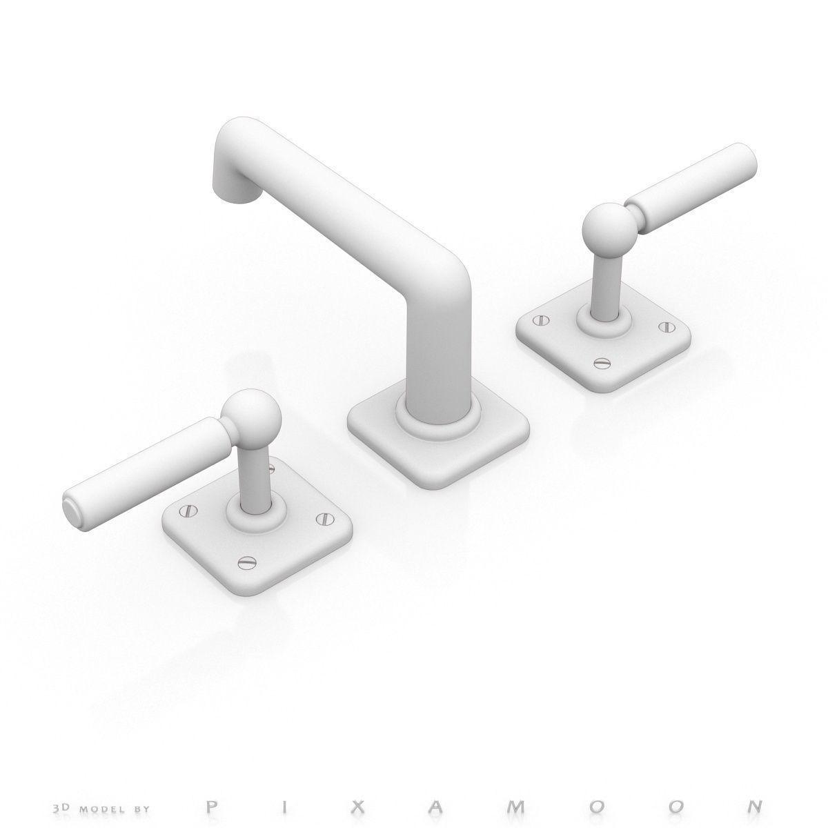 Waterworks Ludlow Faucet with Lever Handles 3D model MAX OBJ 3DS FBX