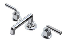 waterworks henry faucet with lever handles 3d