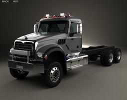 3D model Mack Granite MHD Chassis Truck 2016