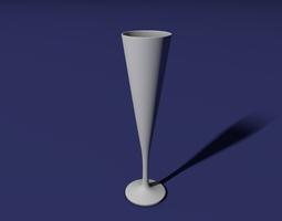 Flute glass 3D Model