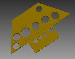 FW190 instrument panel 3D print model