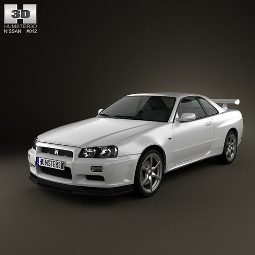 3d Model Nissan Skyline R34 Gt R Coupe 1999 Cgtrader