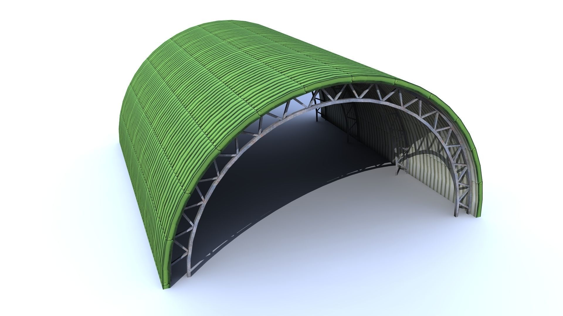 Aircraft low poly - Shelter Hangar FREE