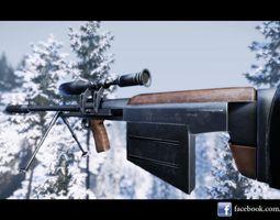 Ksvk Sniper Rifle 3D Model