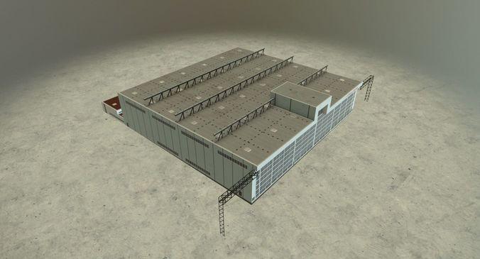 eddb hangar 1 3d model low-poly max obj mtl 3ds fbx ma mb 1