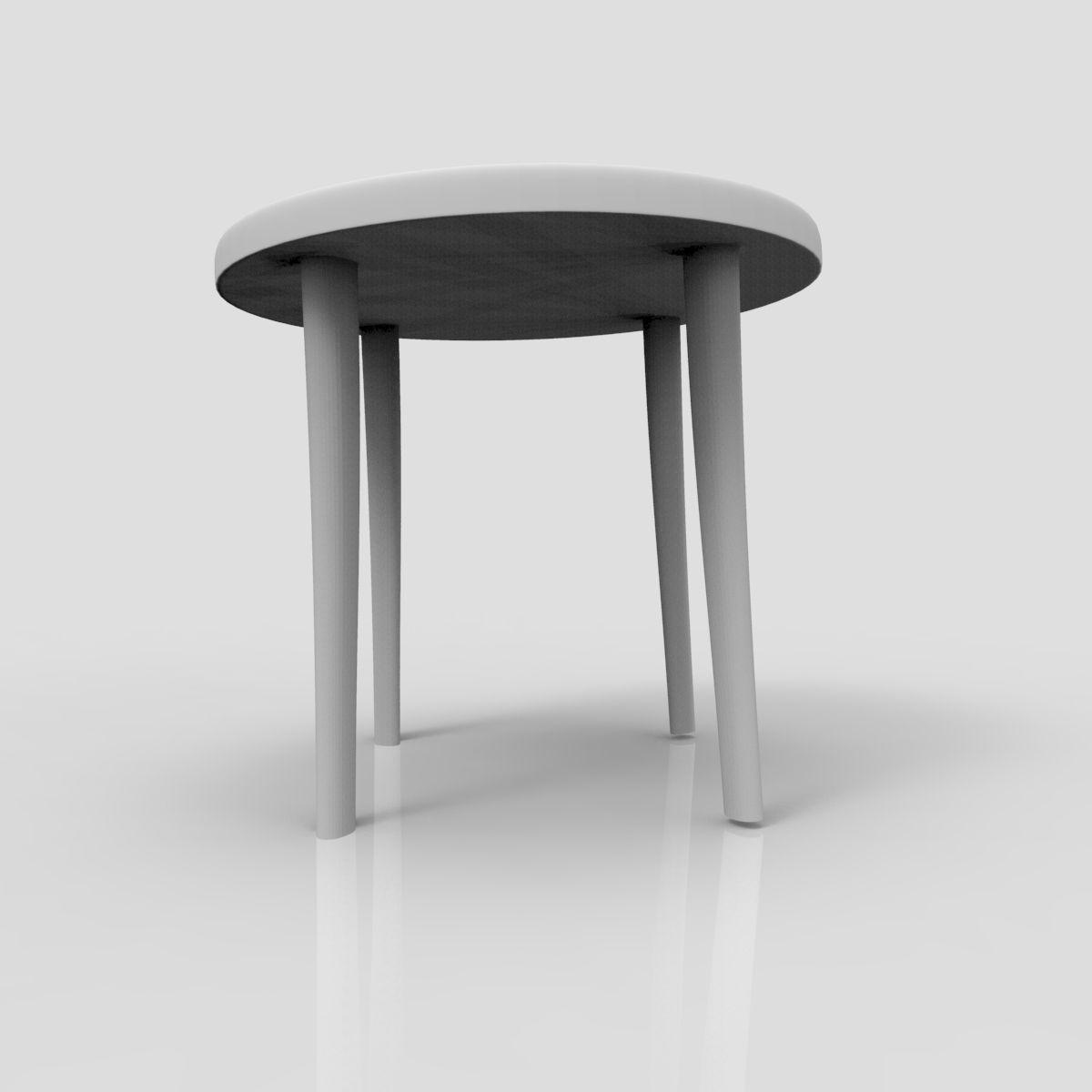 Miniature 3d Print Mini Coffee Table 02 Free 3d Model 3d Printable Stl