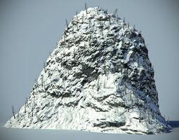 Snow Rock 02 3D Model
