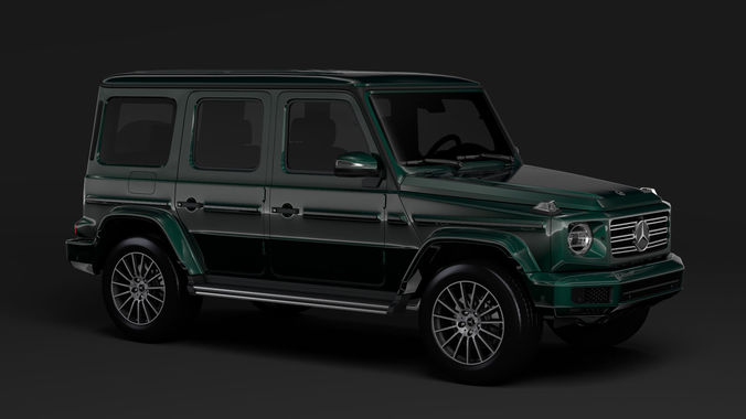 Mercedes benz g 550 w464 2018 3d model cgtrader for Mercedes benz suv models list