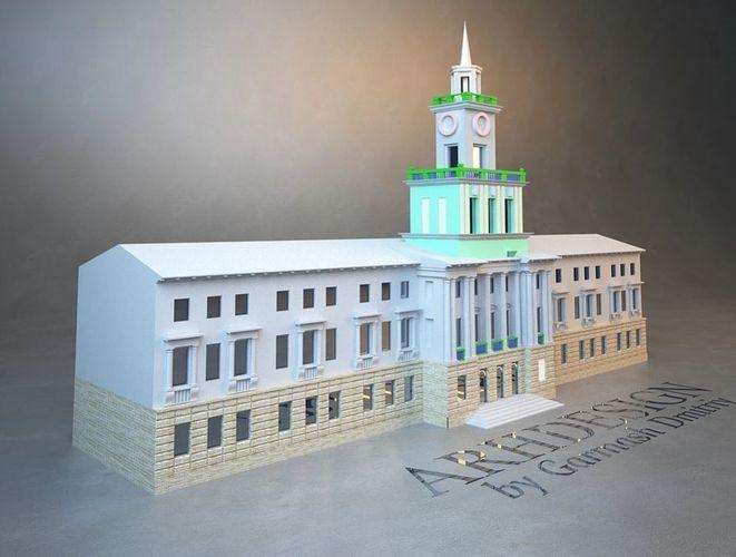 administration building 3d model stl 1