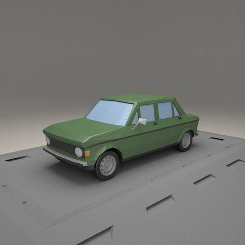 3d Asset Fiat 128 4 Door From 1969 Cgtrader