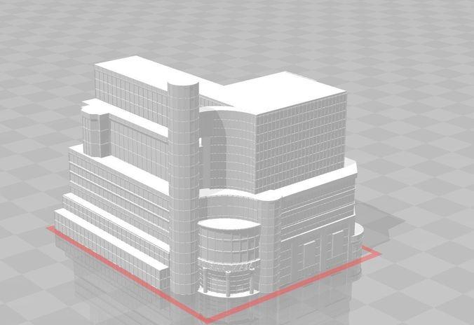 hotel plaza   3d model stl 1