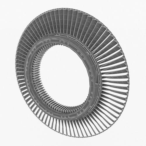 3d Model Gas Turbine Rotors