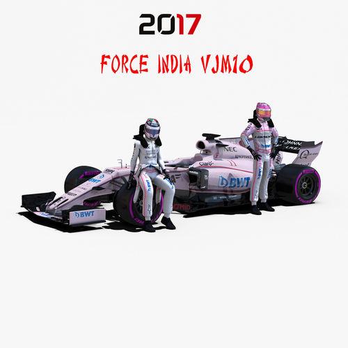 force india vjm10 3d model rigged max obj mtl 3ds fbx c4d ma mb 1