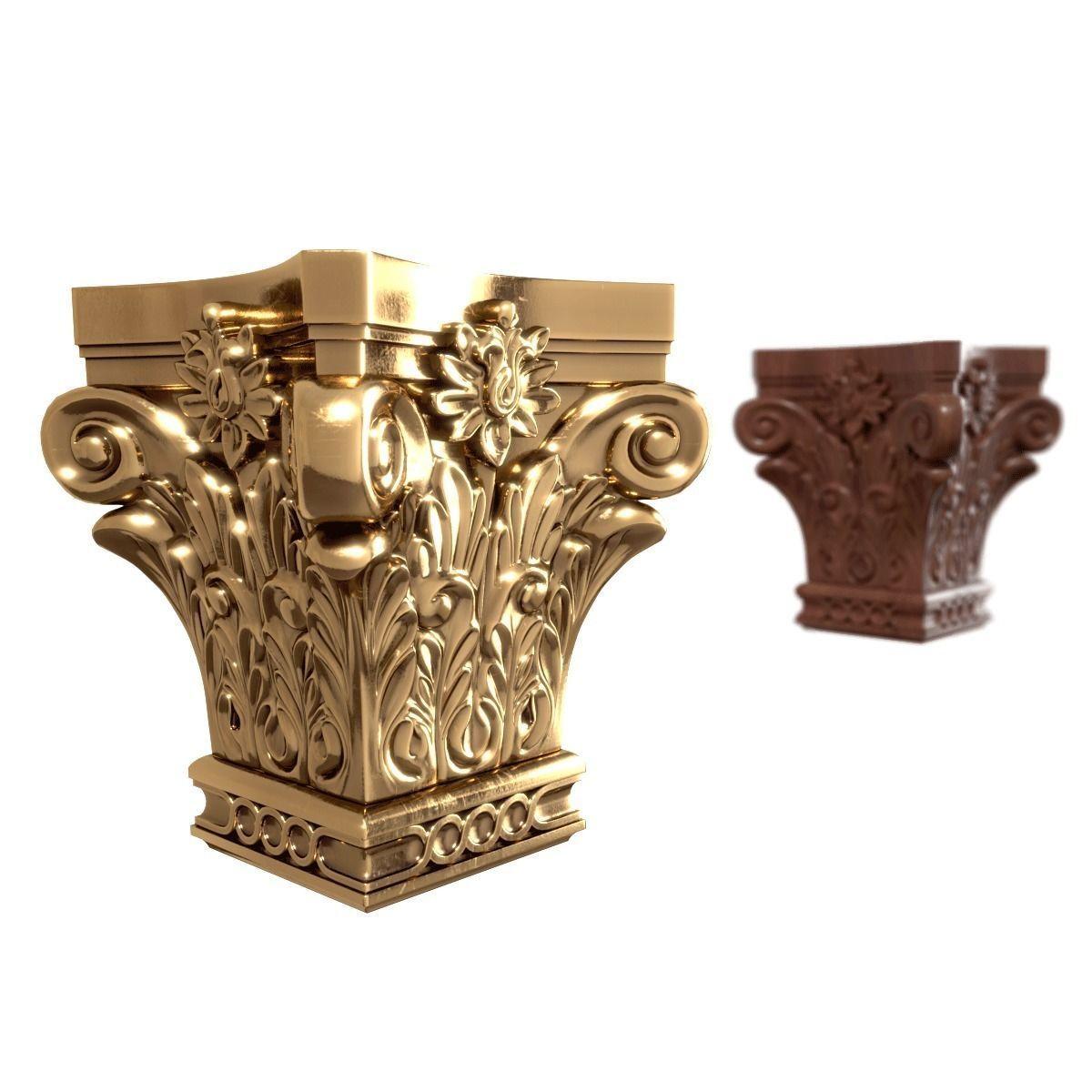 Pilaster Capitals 3D model