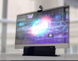 3D model Glass Monitor