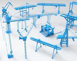 3D Cranes - 17 pieces