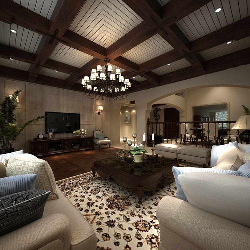 3d Model Avant Garde Luxury Family Living Room 119