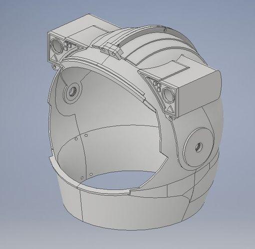 astronaut helmet 3d model stl 1