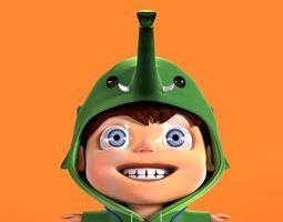 3D Stylized cute boy character