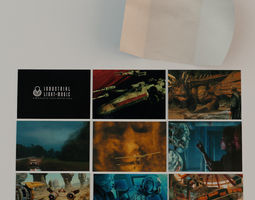 Industrial Light and Magic Postcards 3D Model