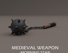 Medieval Weapon Morning Star 3D model realtime