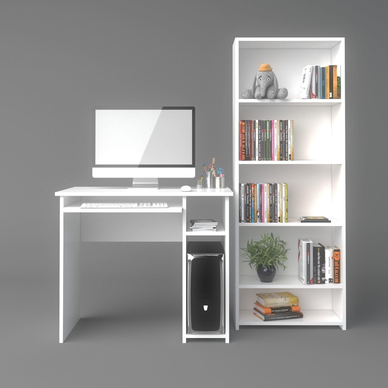 Computer Desk and Bookshelf  33D model