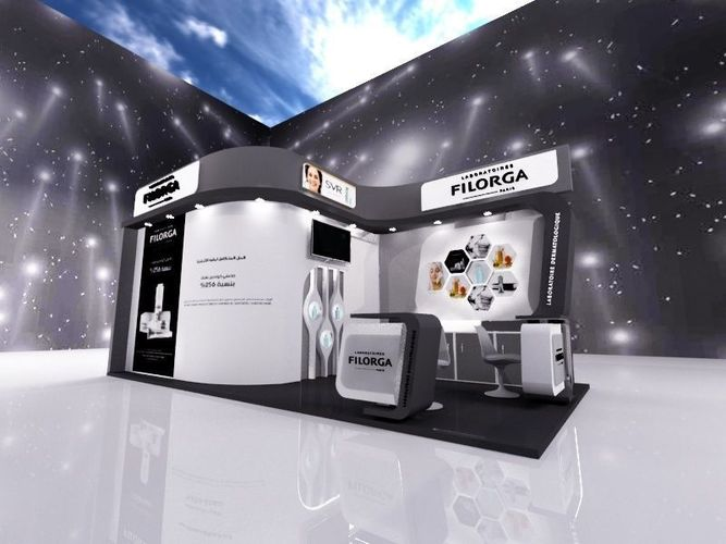 Exhibition Stand Or Booth : Exhibition stand booth for cosmatic products d model