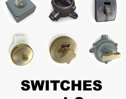 3D Vintage switches collection vol 2