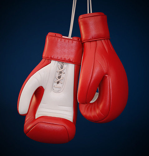 3d boxing gloves cgtrader