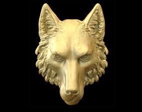 3D printable model pendants Wolf head