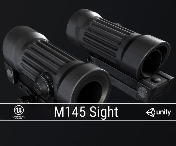 pbr m145 sight 3d model low-poly obj fbx ma mb blend dae tga 1