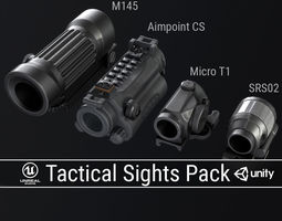 PBR Tactical Sights Pack 3D asset